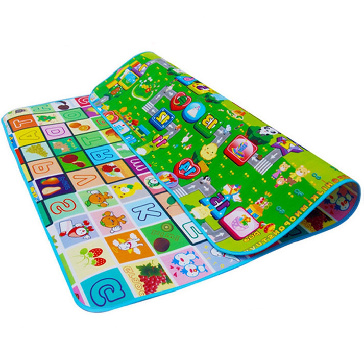 Educational Baby Crawl Pad Carpet Play+Learning+Safety Mats,Kids Climb Blanket 2x1.8m
