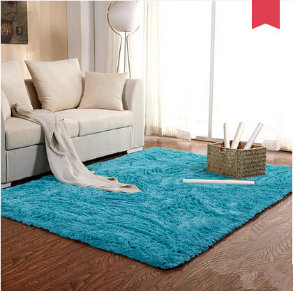Thick 4.5cm 170*240cm Extra Large Shaggy Rug For Living Room Plain Modern  Soft