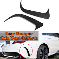 2Pcs Rear Bumper Side Vent Canards For Mercedes Benz CLA200/220/CLA250 Addon Carbon Fiber Look Air Vent Cover Only For AMG Style
