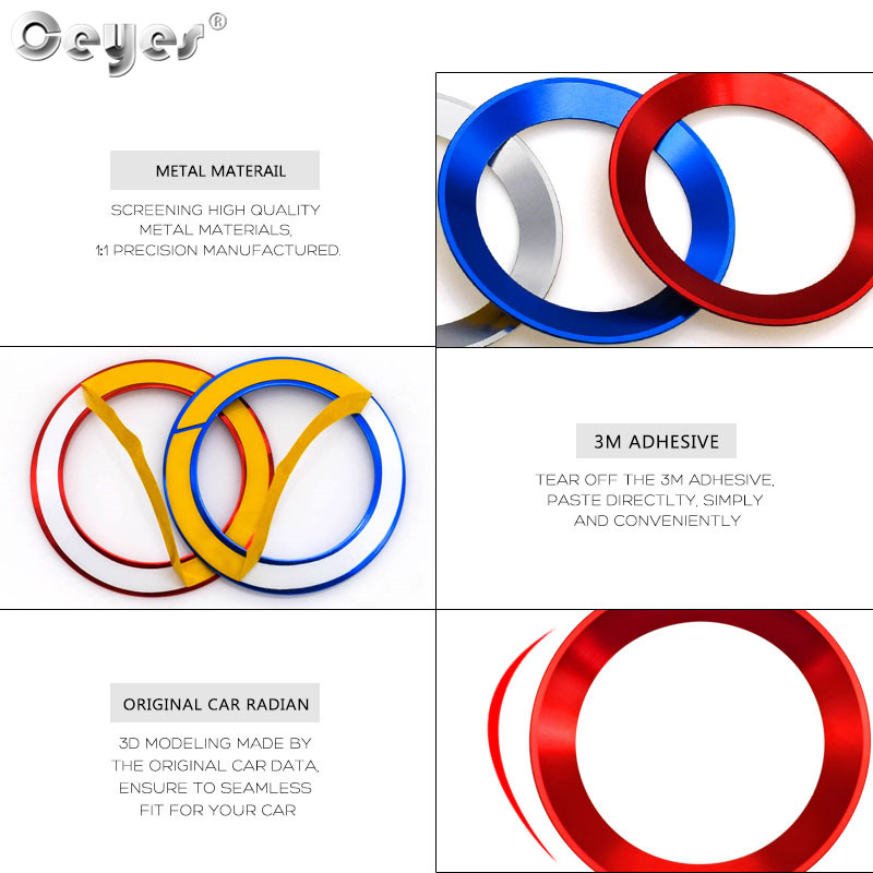 Car steering wheel decoration circle ring sticker for BMW (10)