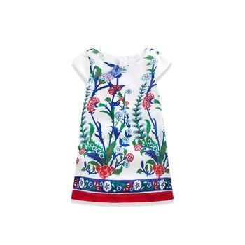 2016 Spring Summer Korean Children's Garment Girl Baby New Pattern Nation Wind Printing Dress Girl Jacket Full Dress