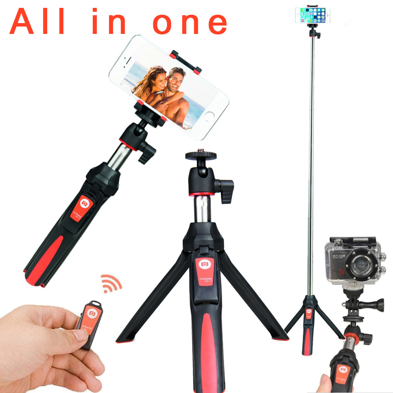 Ulanzi BENRO MK10 4 in 1 Extendable Bluetooth Remote Selfie Stick Monopod Tripod Phone Stand Mount