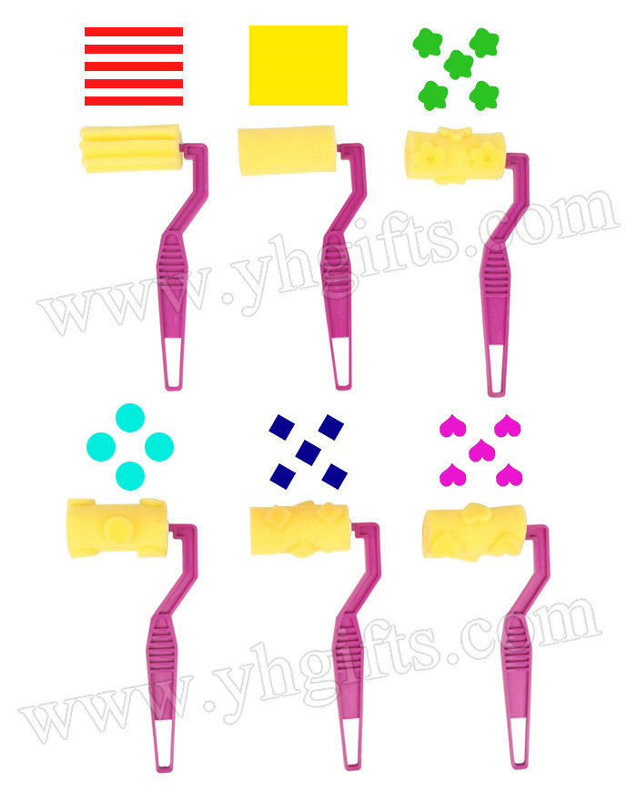 12pcs lot mixed design sponge roller stamp kids for Wholesale craft supplies in bulk