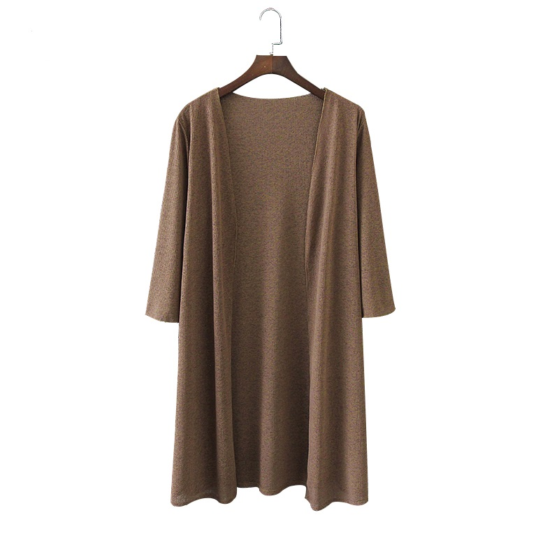 2020 Plus Size 4XL Drop Shipping Summer Autumn Long Knitted Thin Cardigan Sweater Air Conditioning Cape Sun Protection Blusas