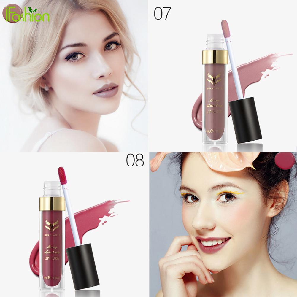 12pcs/Color Moisture Lip Gloss Matte Lipstick Long Lasting Waterproof Makeup Lipstick Liquid lipgloss Sexy Women Girl Beauty
