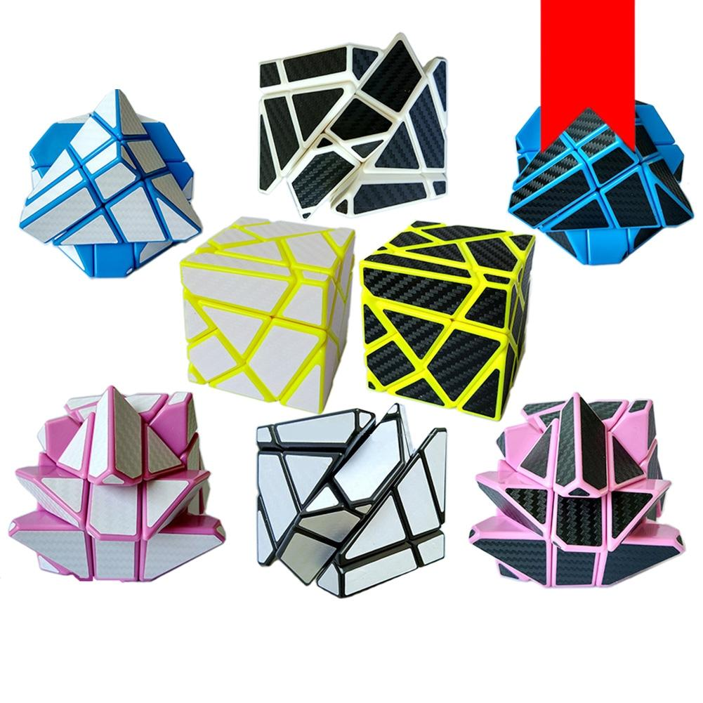 LeadingStar Magic Speed Cube with Carbon Fiber Stickers Creative Brain Teaser Puzzle Toys for Kids & Adults zk30