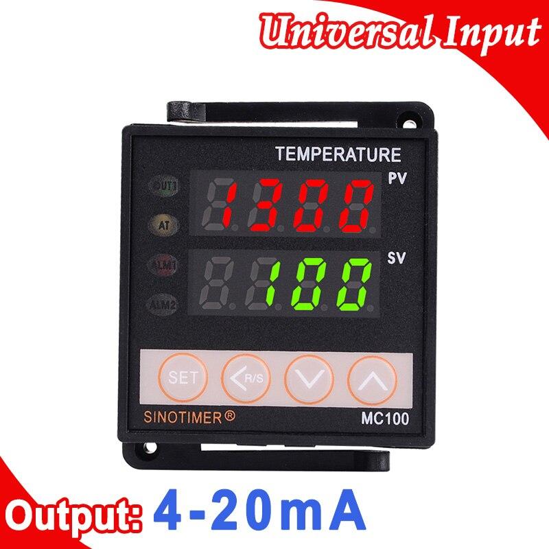 Tipo de entrada do termopar k ou pt100 rtd do regulador do controlador de temperatura de digitas pid, saída atual 4-20ma