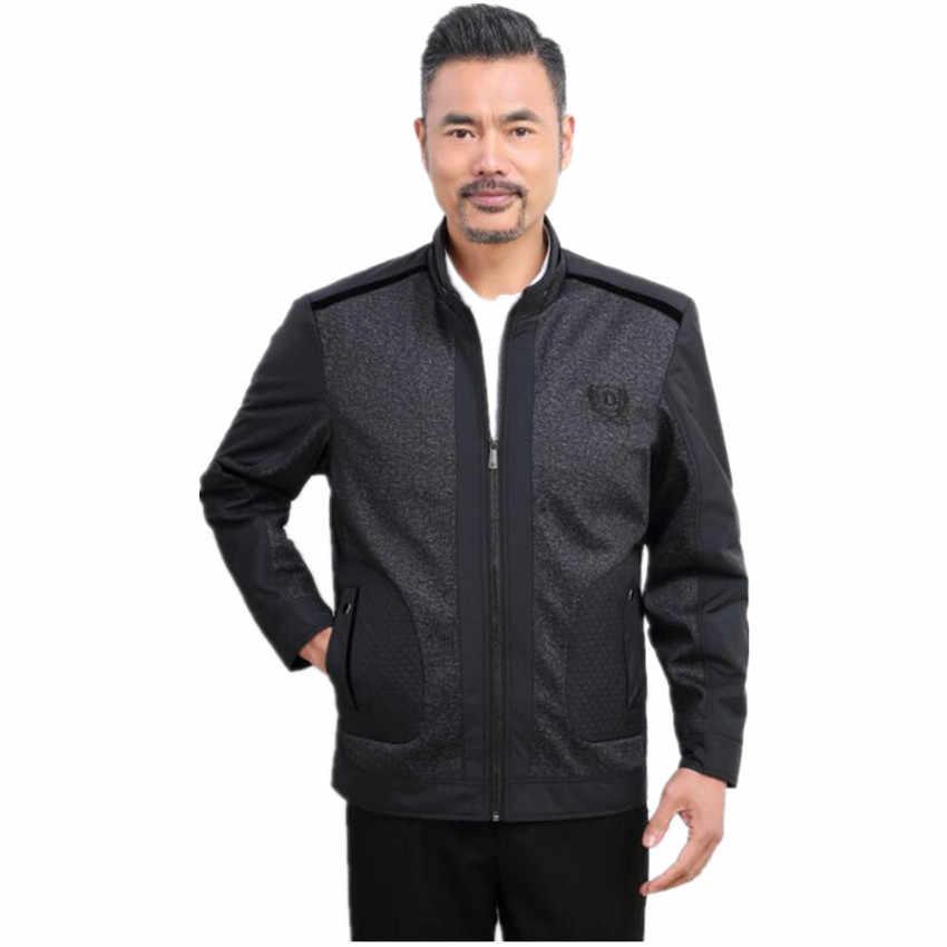 Стенд воротник Для мужчин S Куртки Новинка 2017 года Лидер продаж Бизнес мужской Пальто для будущих мам тонкий британский стиль Для мужчин Куртки мода весна пальто 4xl черный