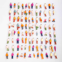 100pcs Model People HO Scale 1:100 Painted Model People Mix Painted Model Train Street Passenger People Figures Brinquedos(China)