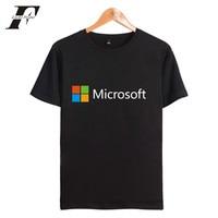 LUCKYFRIDAYF IT Google Microsoft Summer T Shirt Men Cotton Short Sleeve Print Pattern Casual Tee Shirt