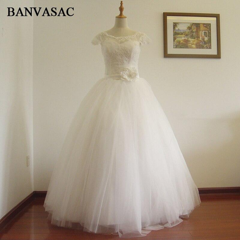 BNVASAC 2017 חדש קו רוסיה ללא שרוולים טאטא - שמלות חתונה