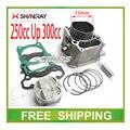 Изменение SHINERAY x2 x2x двигатель цилиндр блок 73 мм поршневое кольцо булавка 250cc , чтобы 300cc полный комплект аксессуары