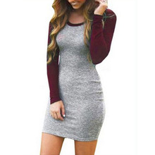 Fashion Autumn Winter Women Knitted Dress Bodycon Women Clothes Ladies Long Sleeve Vestidos Stretch Package Hip Casual Dress