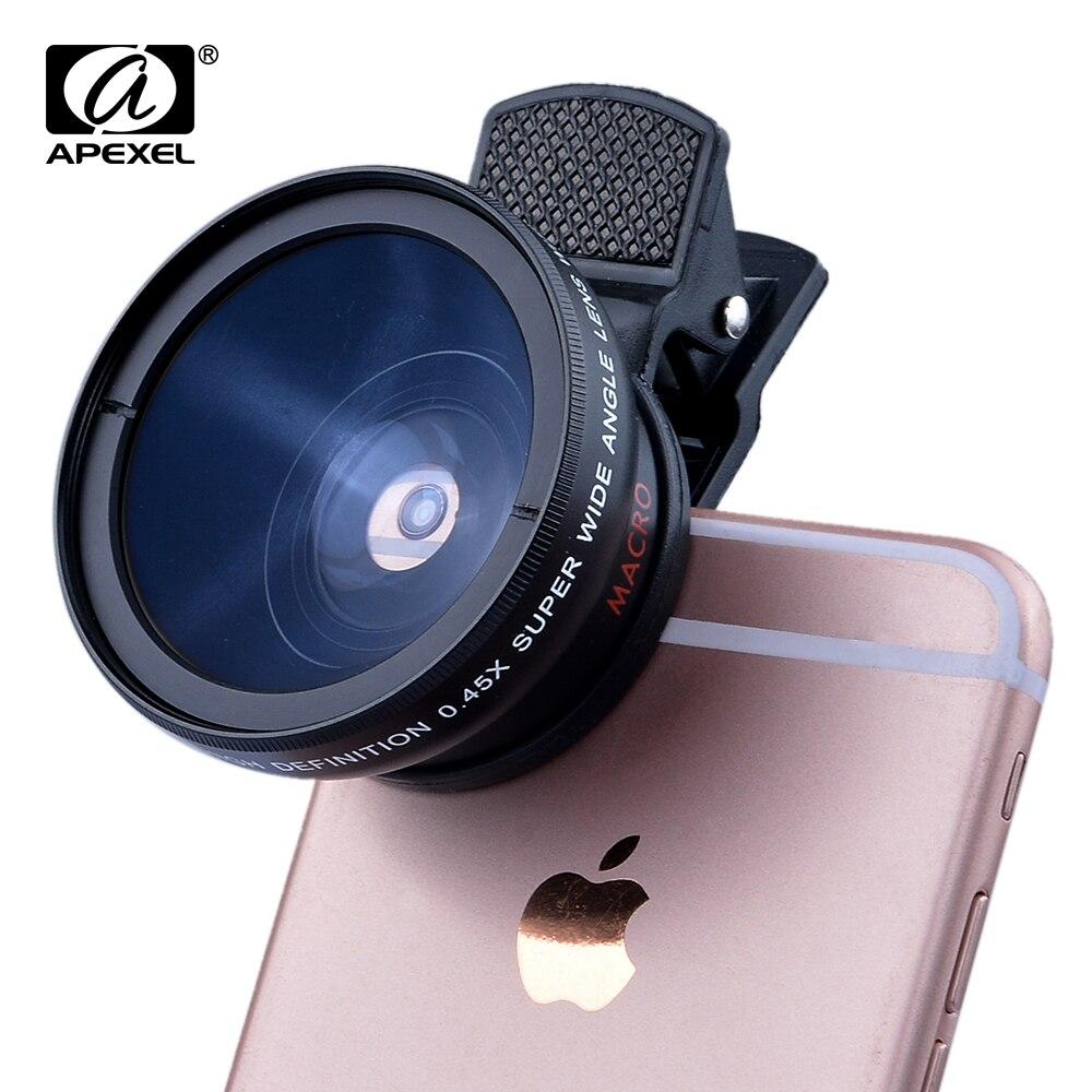 Novo HD 37 MM 0.45x Lente Super Grande Angular com 6 Plus 5S 4S 12.5x Lente Super Macro para o iphone samsung S6 S5 Nota 4 Kit lente da Câmera