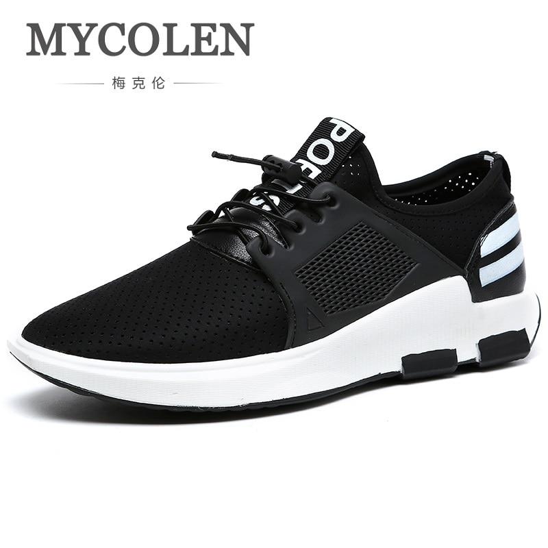 Schwarzes Für Mycolen Männer Casual Atmungsaktive Flut Neue Spitze Schuhe Mode Zapatillas Up Schwarz Auflistung Die Leinwand wqZpw1B