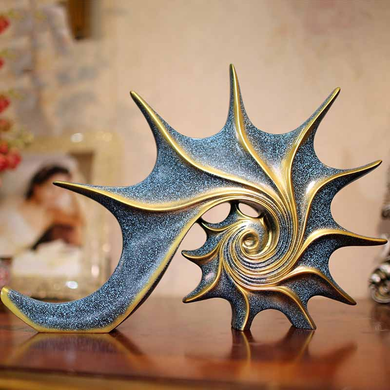 European Conch Crafts Home Office Furniture Cabinets House Bookshelf Counter Wine Cabinet Decoration Decoration