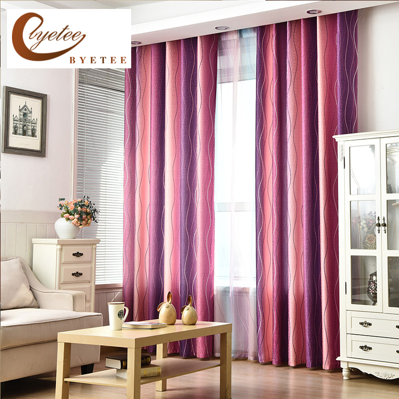 Kitchen Curtains Fabric Curtains Fabric Stripe Drapes: [byetee] Half Blackout Curtain Fabrics Cloth Mediterranean
