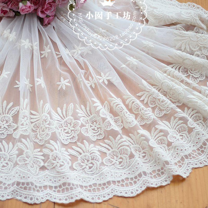 ᐂ3 m/lote ancho exquisito hilo de algodón bordado encaje materiales ...