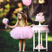 Princess Kids Baby Fancy Wedding Dress Sleeveless Sequins Birthday Party for Girl Summer Dresses 6M-6Y