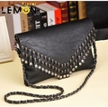 2017 Brand Skull Rivet PU Leather Women Crossbody Shoulder Bag Fashion Bolsas Femininas Vintage Women Messenger Bags A659
