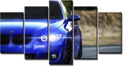 Originalité artistique BMW Super voiture lumière impression affiche toile en 5 pièces avec Framed20x35cmx2, 20x45cmx2, 20x55 cm