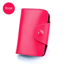 Wholesale Genuine Leather Men Business Card Holder Women Fashion Credit Bank Case Porte Carte