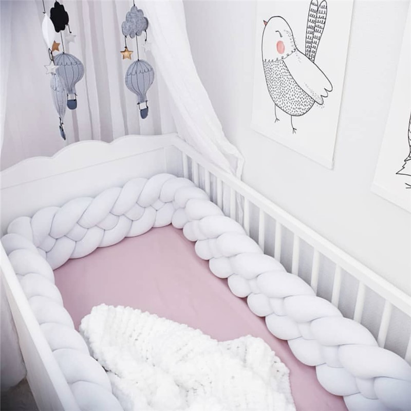 2M/3M Baby Bed Bumper Crib Sides 4 Braid  Newborn Crib Pad Protector Cot Bumpers Bedding For Infant Room Decor