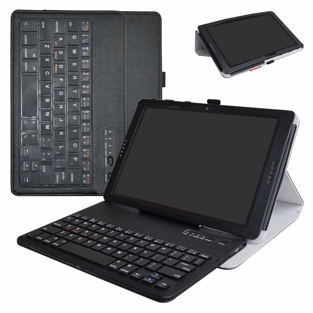 For AT&T Primetime Removable Bluetooth Keyboard Tablet,For 10 AT&T Primetime Portable Folding Stand PU Leather Case universal 61 key bluetooth keyboard w pu leather case for 7 8 tablet pc black