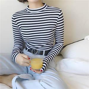 327d9b06a11 BONNTEE 2018 Long Sleeve T Shirts T-shirt Womens Female