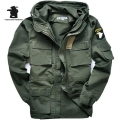 Military Uniform Men's 101 Air Force  Plus Size Trench Slim Waist Classic Wadded Jacket  Parka Jacket Coat M~3XL C35E2