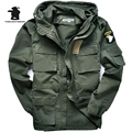 Uniforme militar 101 da Força Aérea dos homens Plus Size Trincheira Cintura Fina Clássico Amassado Jaqueta Parka Jaqueta Casaco M ~ 3XL C35E2