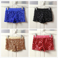 Elastic Women High Waist Shorts Jazz Hip Hop Stage Clothing Shiny Shorts Sexy Shorts Women Sequin