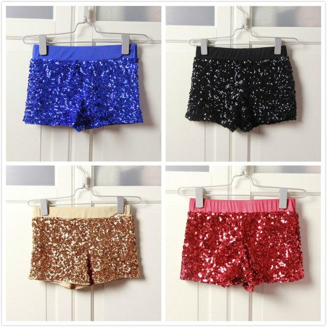 Elastic Women High Waist Shorts Jazz Hip Hop Stage Clothing Shiny Shorts Sexy Shorts Women Sequin