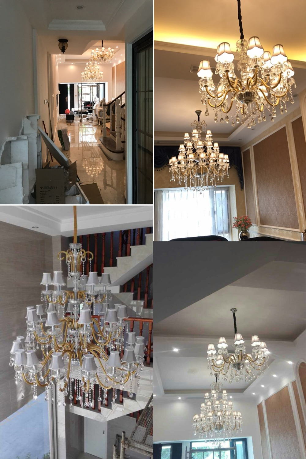 Large chandeliers for foyer large modern chandelier crystal high large chandeliers for foyer large modern chandelier crystal high ceiling chandelier lighting modern crystal chandeliers for home in chandeliers from lights arubaitofo Gallery