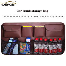 New design car trunk storage bag organizer seat Large capacity belt net freeshipping