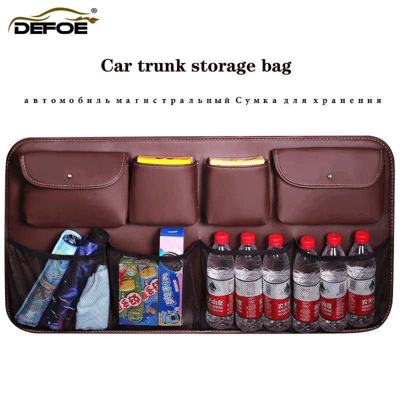 New design car trunk storage bag organizer seat Large capacity belt net freeshipping
