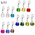Модные подвески «хрустальные», подвески для ожерелья, подходят для плавающего кулона с карабином, 12 цветов на выбор