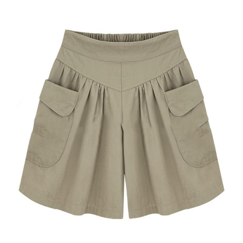 2018 Summer Plus size Short women XL 4XL 5XL Wide Leg