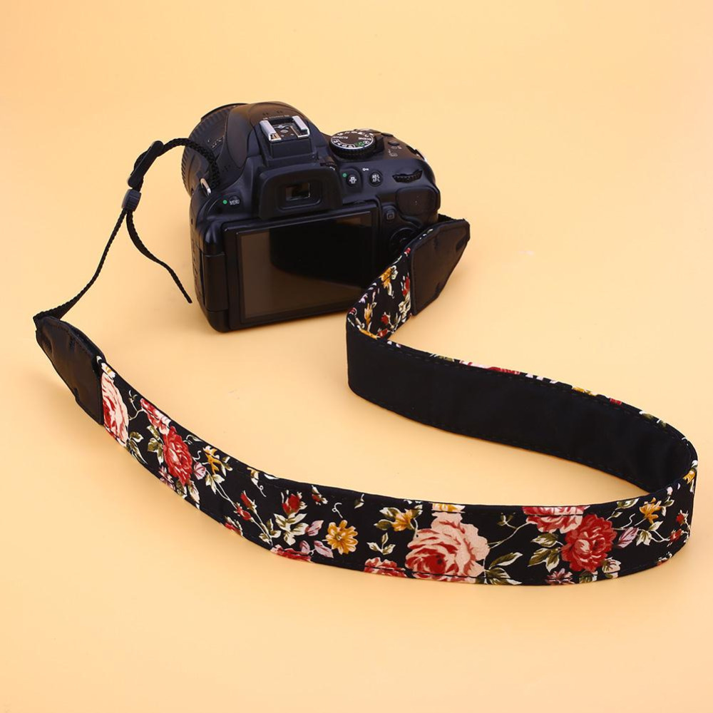 Universal Vintage Camera Neck Shoulder Strap Chinese Flower For DSLR Durable