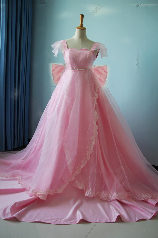 Sailor Moon Princess Serenity Tsukino Usagi pink Dress Cosplay Costume