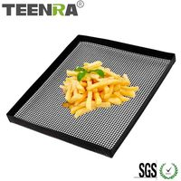 Teenra 1 pcs 블랙 테플론 베이킹 트레이 비 스틱 베이킹 매트 오븐 바구니 베이킹 시트 ptfe 오븐 칩 바구니 bakeware 도구