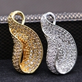 Simple Bling Bling Big Waterdrop Pendant  Jewelry Inlay Full Crystal AAA Zircon Gold Plated Pendant Necklace