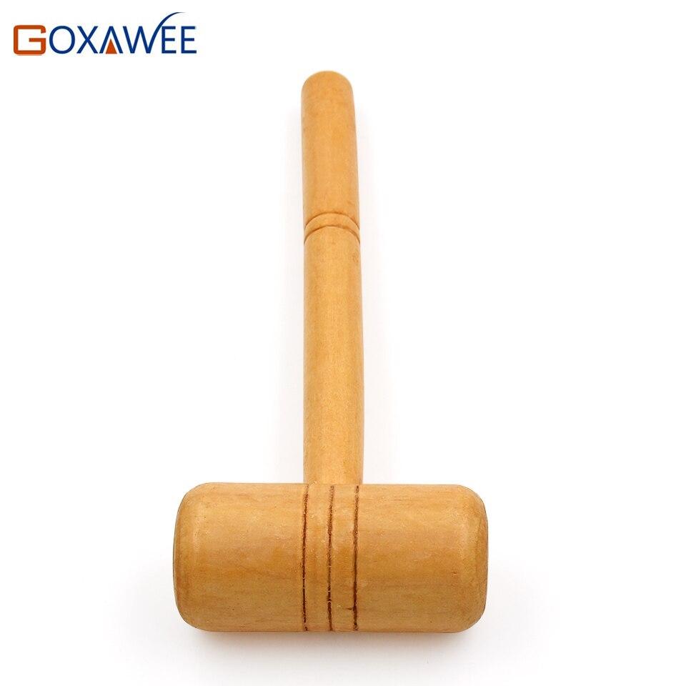 GOXAWEE 1 шт. деревянный молоток безопасно мощность снижается многоцелевой ручной молоток инструменты для оборудования ремонт ювелирных издел...