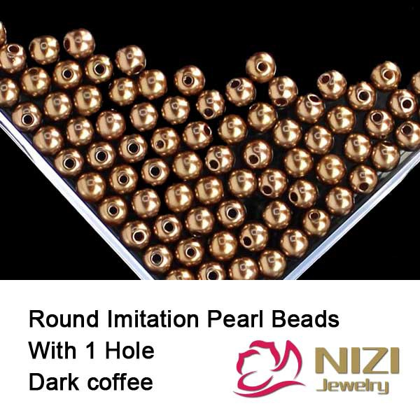 New Resin Beads 6mm 8mm 10mm Resin Round Dark Coffee Imitation Pearls With Hole 100g/bag Perfect For DIY Decoration new resin pearl beads 6mm 8mm 10mm resin round dark coffee imitation pearl beads with hole 100g bag perfect for diy decoration