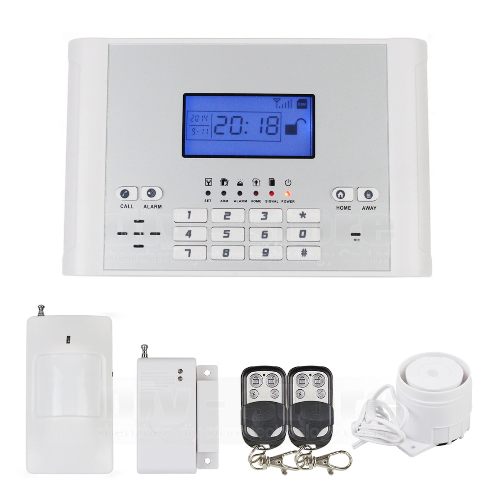 DIYSECUR Wireless Wired Defense Zones GSM SMS Intruder Security font b Alarm b font System Auto