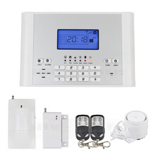DIYSECUR Wireless / Wired Defense Zones GSM SMS Intruder Security Alarm System Auto-dial for House Office