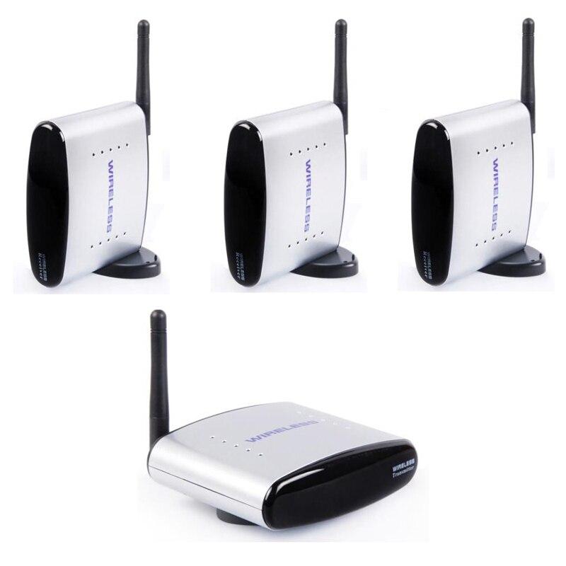 HBUDS 2 4GHz 150m Wireless AV Sender TV Audio Video 1 Transmitter 3 Receiver PAT 335
