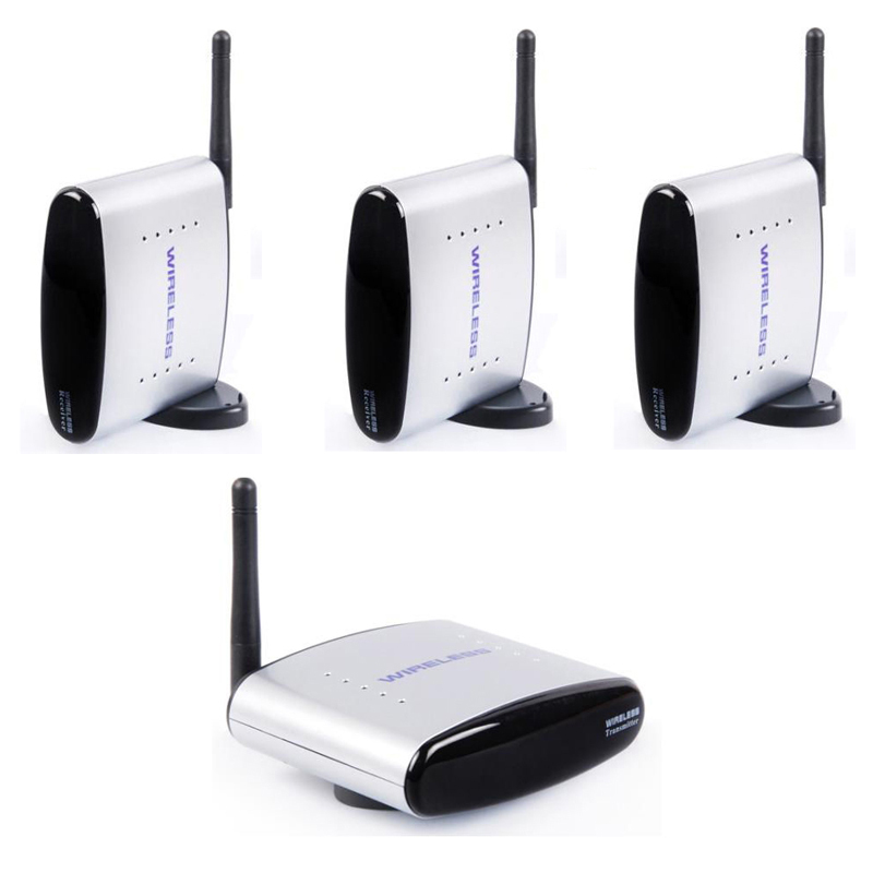 HBUDS 2.4 GHz 150 m Wireless AV Sender TV Audio Video 1 เครื่องส่งสัญญาณ 3 ตัวรับสัญญาณ PAT   335 สีดำ-ใน อุปกรณ์ออกอากาศวิทยุและโทรทัศน์ จาก อุปกรณ์อิเล็กทรอนิกส์ บน AliExpress - 11.11_สิบเอ็ด สิบเอ็ดวันคนโสด 1