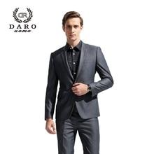 DAROuomo 2016 Men Suit Men's Blazer Slim Casual  Jacket Pants Wedding Party Suit Custom Tailor DR8608