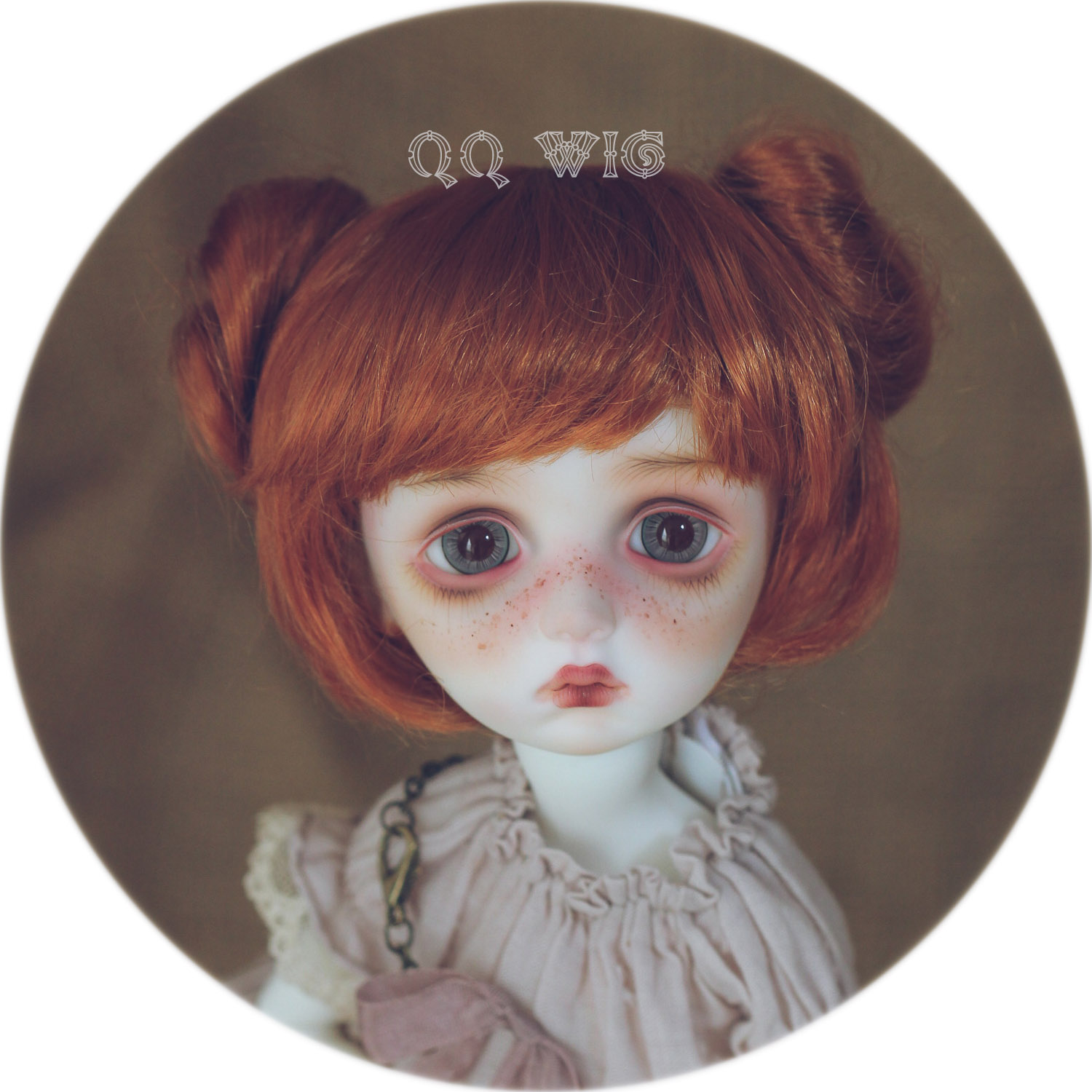 Free Shipping New Arrival 1/4 Bjd Wig Msd Sd Yosd Lovely Fashion Mohair BJD Hair Wig 1 3 1 4 1 6 1 8 1 12 bjd wigs fashion light gray fur wig bjd sd short wig for diy dollfie